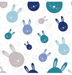 Funny bunny seamless pattern vector image vector image