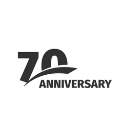 Isolated abstract black 70th anniversary logo on vector image