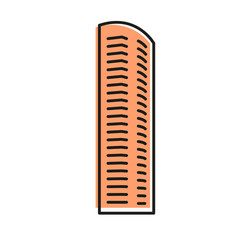 isolated brown color skyscraper in lineart style vector image vector image