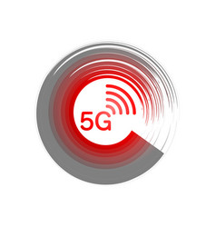 5g new wireless internet wifi connection - icon vector image