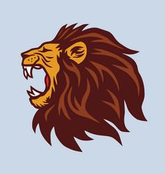 Angry lion mascot logo vector
