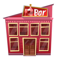 Bar exterior pub drinking establishment facade vector