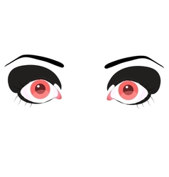 beautiful pink eye vector image