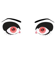 Beautiful pink eye vector