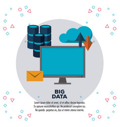 big data technology infographic vector image