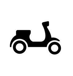 Black and white scooter silhouette ve vector