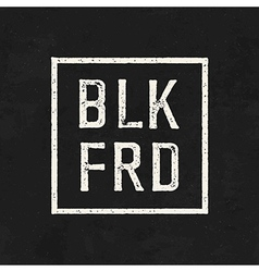 BLK FRD Black friday sale on the blackboard vector image