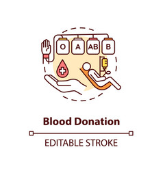 Blood donation concept icon vector