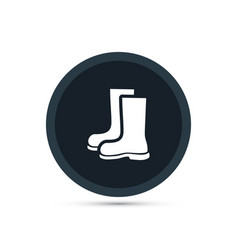 Boots icon gardening vector