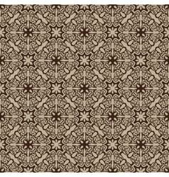 Brown seamless pattern vector image