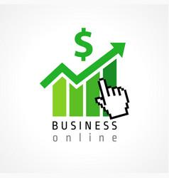 Business online hand pixel vector