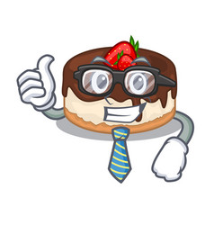 Businessman cake berries in character that fresh vector