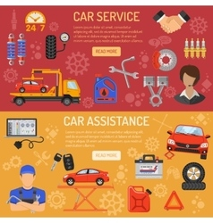 Car Service Banners vector