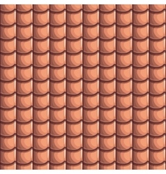 Cartoon roof tiles seamless background vector