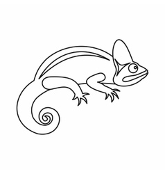 Chameleon icon outline style vector image