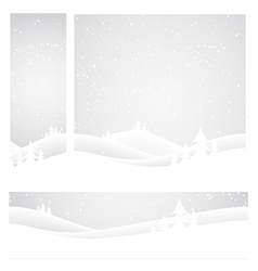 Christmas set of banners vector