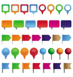 Collection with pins and marks vector