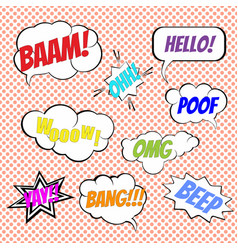 comic book explosion elements collection vector image