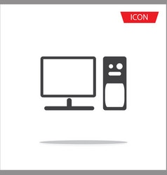 computer icon isolated on white background vector image