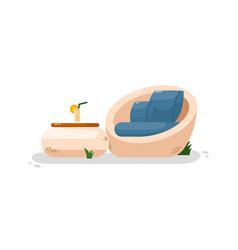 Contemporary garden chair vector
