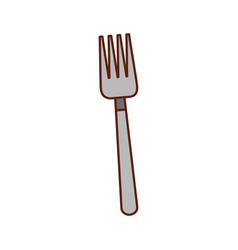 cutlery fork tool kitchen to eat vector image