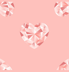 diamonds seamless pattern repeat romantic vector image