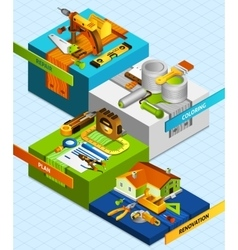 Diy Isometric Concept vector