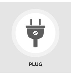 Electrical plug flat icon vector image