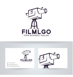 film logo design vector image