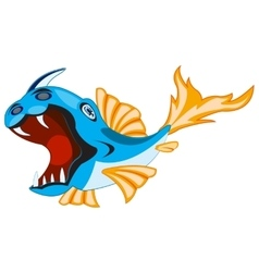 Fish crock on white vector