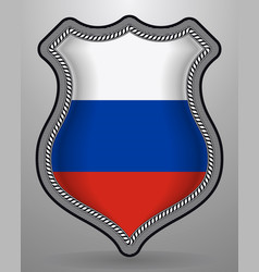 Flag of russia badge and icon vector