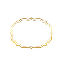 Gold frame beautiful simple golden design vector