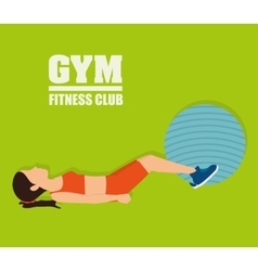 Gym and fitness lifestyle design vector
