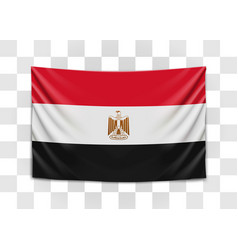 hanging flag egypt arab republic egypt vector image
