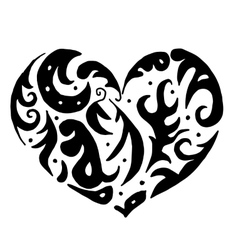 heart for coloring or tattoo vector image