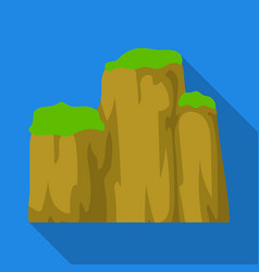 high green mountain with bushes on topdifferent vector image