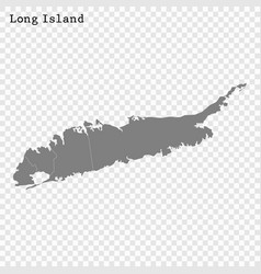 High quality map long island vector