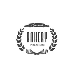 Homemade premium bakery logo badge symbol with vector