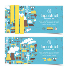 industrial equipment banners vector image