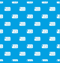 Inkjet printer cartridge pattern seamless blue vector