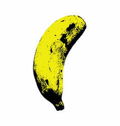 isolated banana vector image