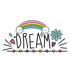 Isolated dream word design vector