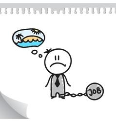 Job slavery vector