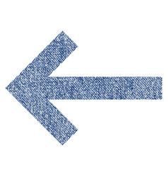 left arrow fabric textured icon vector image