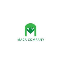 letter m nature logo design vector image
