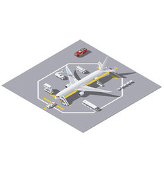 Maintenance a passenger aircraft isometric icon vector