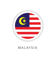 Malaysia circle flag template design vector