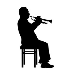 man playing trumpet vector image