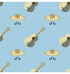 Mexican Guitar Seamless Pattern vector