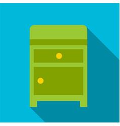Nightstand flat icon vector